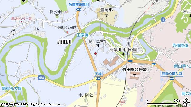 大分県竹田市飛田川1587周辺の地図