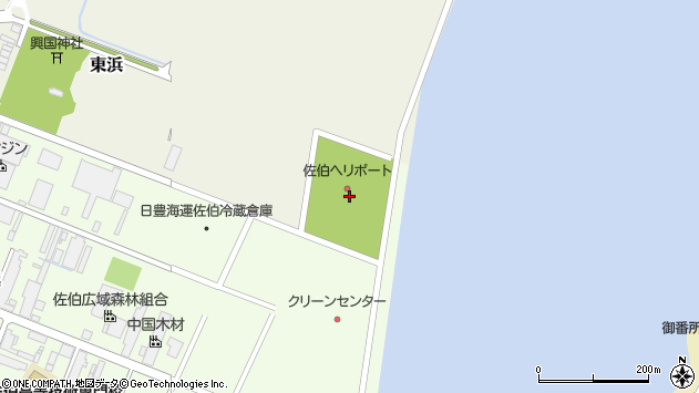 大分県佐伯市東浜2周辺の地図