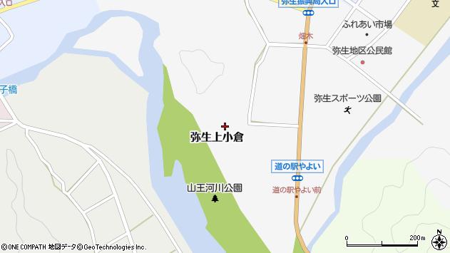 大分県佐伯市弥生大字上小倉757周辺の地図