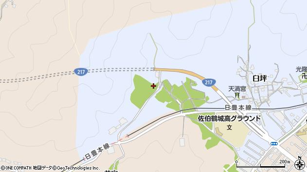 大分県佐伯市臼坪2887周辺の地図