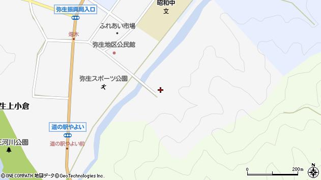 大分県佐伯市弥生大字上小倉1412周辺の地図