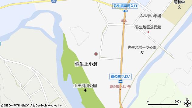 大分県佐伯市弥生大字上小倉741周辺の地図