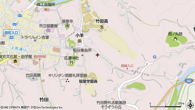 大分県竹田市竹田2575周辺の地図