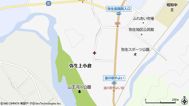 大分県佐伯市弥生大字上小倉695周辺の地図