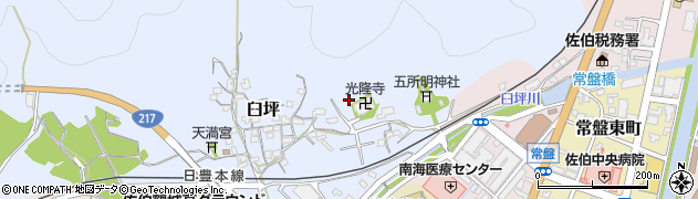 大分県佐伯市臼坪18周辺の地図