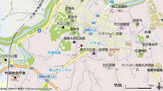 大分県竹田市竹田町434周辺の地図