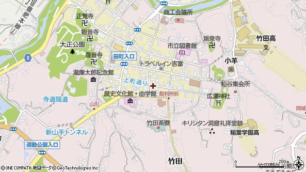 大分県竹田市竹田町上町周辺の地図