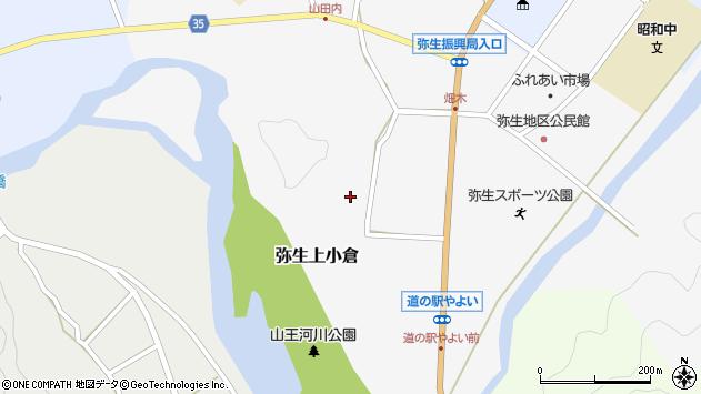 大分県佐伯市弥生大字上小倉694周辺の地図