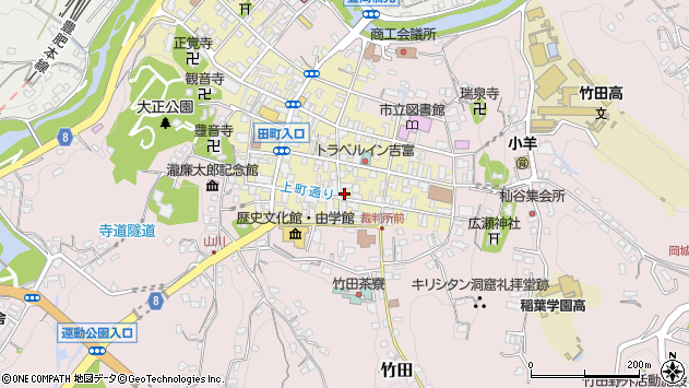 大分県竹田市竹田町60周辺の地図