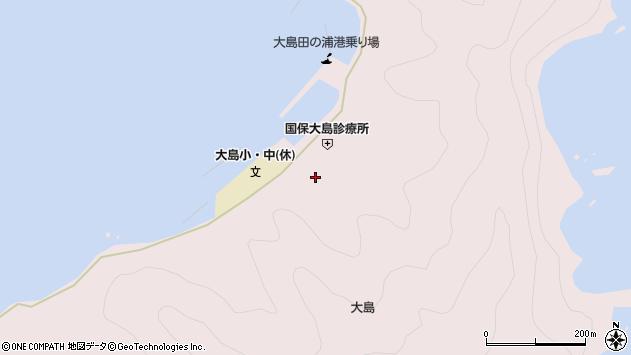 大分県佐伯市鶴見大字大島周辺の地図