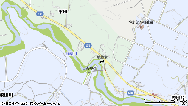 大分県竹田市平田119周辺の地図