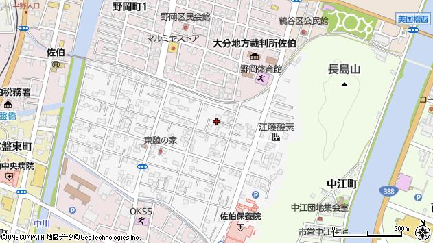 大分県佐伯市東町16周辺の地図