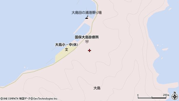 大分県佐伯市鶴見大字大島854周辺の地図