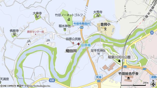 大分県竹田市飛田川1903周辺の地図