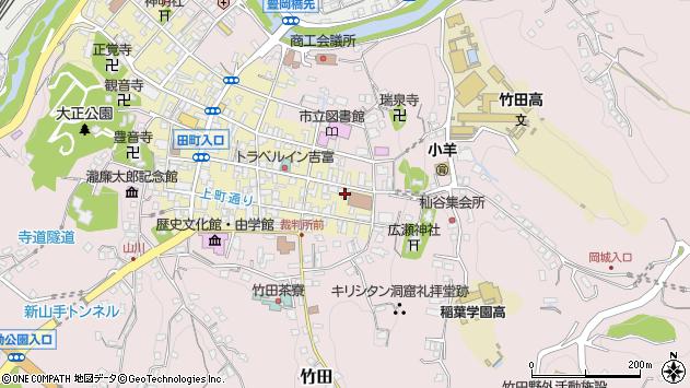 大分県竹田市竹田町102周辺の地図