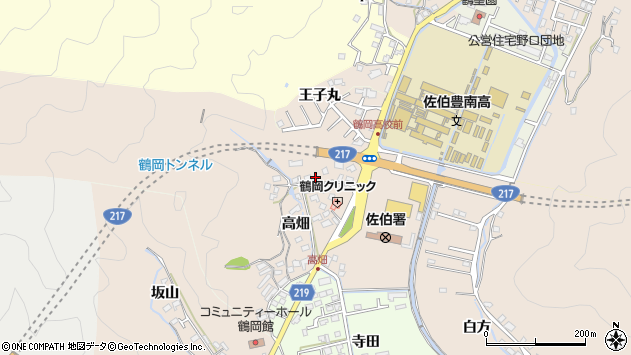 大分県佐伯市鶴望2746周辺の地図