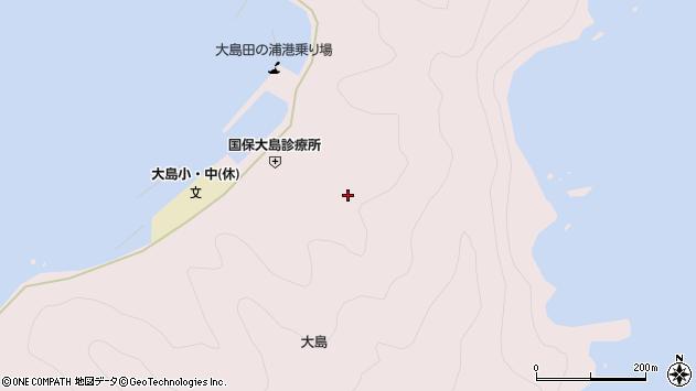 大分県佐伯市鶴見大字大島田の浦周辺の地図