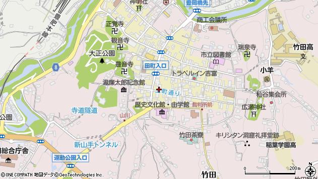 大分県竹田市竹田町393周辺の地図
