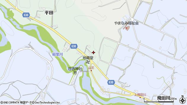 大分県竹田市平田74周辺の地図