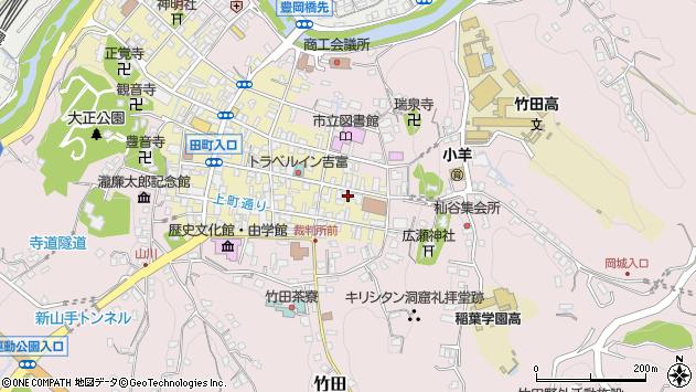 大分県竹田市竹田町103周辺の地図