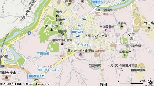 大分県竹田市竹田町390周辺の地図