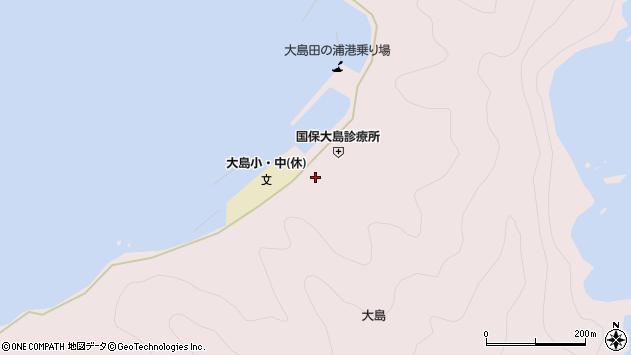 大分県佐伯市鶴見大字大島755周辺の地図