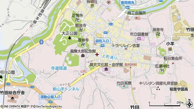 大分県竹田市竹田町452周辺の地図