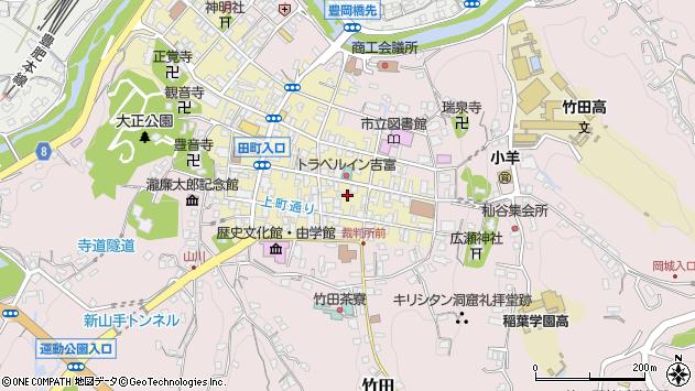 大分県竹田市竹田町田町周辺の地図
