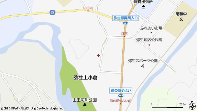 大分県佐伯市弥生大字上小倉708周辺の地図