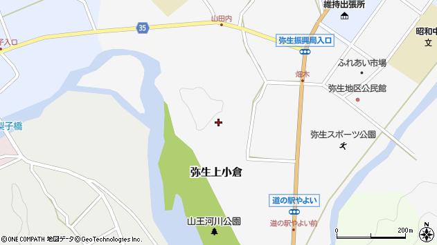 大分県佐伯市弥生大字上小倉770周辺の地図