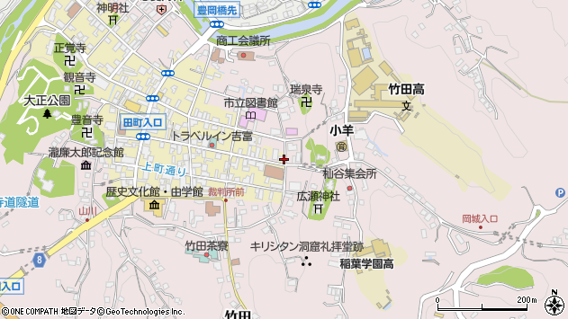 大分県竹田市竹田町170周辺の地図