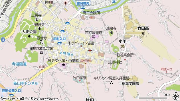 大分県竹田市竹田町105周辺の地図