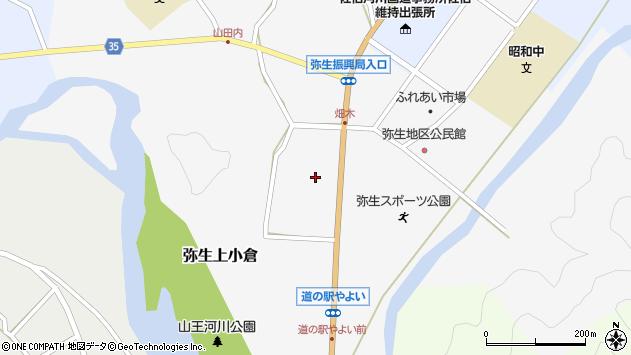 大分県佐伯市弥生大字上小倉1061周辺の地図