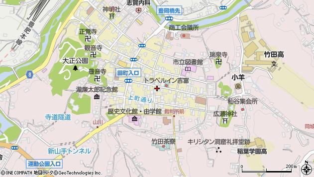 大分県竹田市竹田町周辺の地図