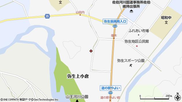 大分県佐伯市弥生大字上小倉710周辺の地図