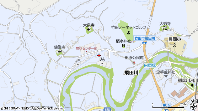 大分県竹田市飛田川2105周辺の地図