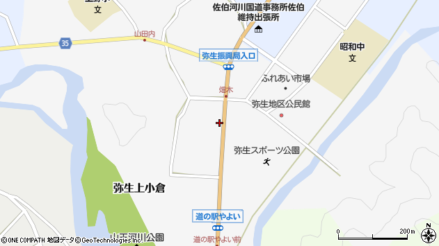 大分県佐伯市弥生大字上小倉1064周辺の地図