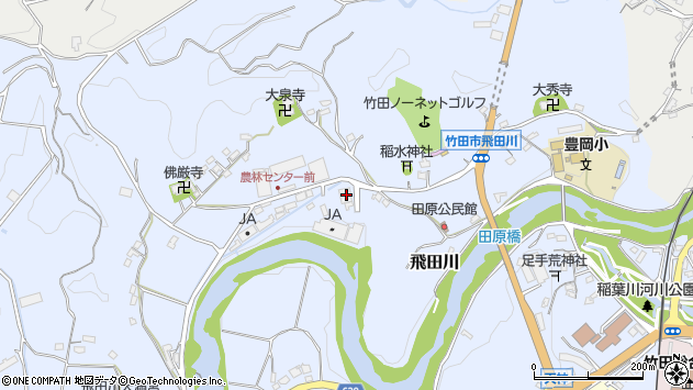 大分県竹田市飛田川1938周辺の地図