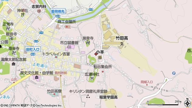 大分県竹田市竹田鷹匠町周辺の地図