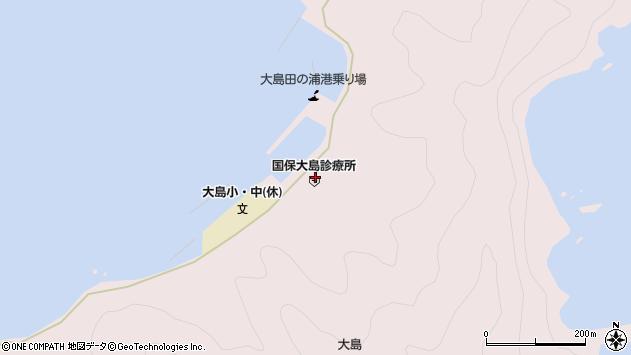 大分県佐伯市鶴見大字大島1001周辺の地図