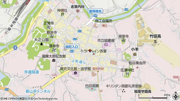 大分県竹田市竹田町府内町周辺の地図