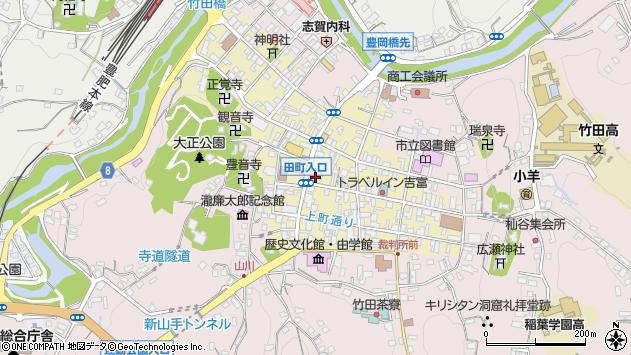 大分県竹田市竹田町334周辺の地図