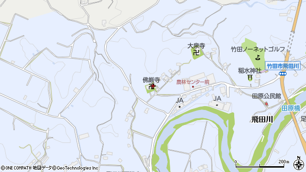大分県竹田市飛田川2077周辺の地図