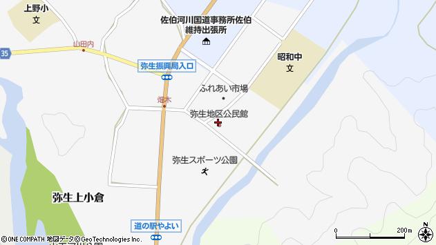 大分県佐伯市弥生大字上小倉1157周辺の地図
