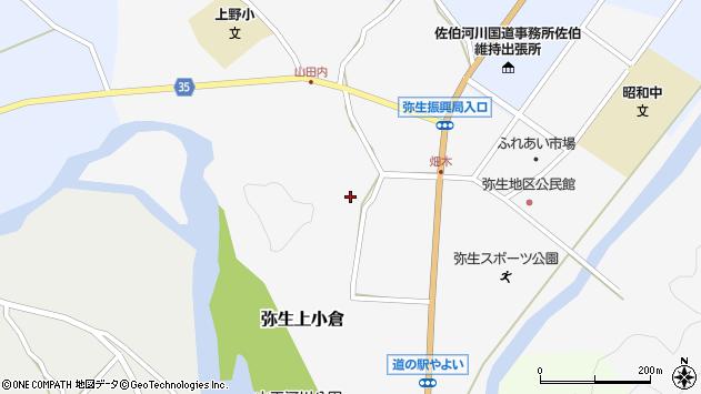 大分県佐伯市弥生大字上小倉1044周辺の地図