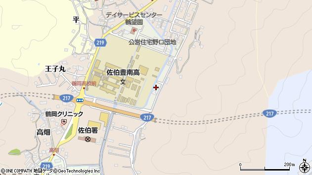 大分県佐伯市鶴望5089周辺の地図