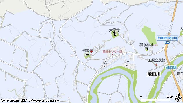大分県竹田市飛田川2078周辺の地図
