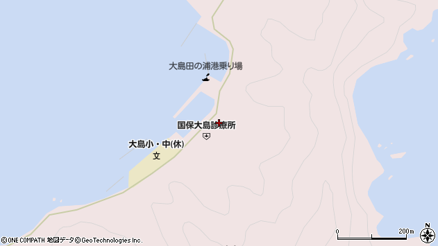 大分県佐伯市鶴見大字大島1015周辺の地図