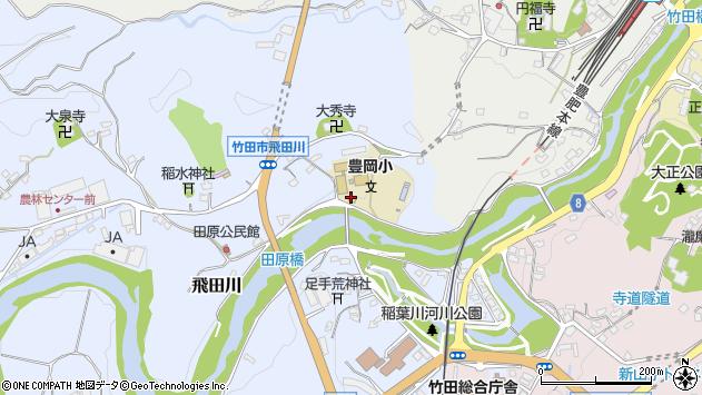 大分県竹田市飛田川1810周辺の地図