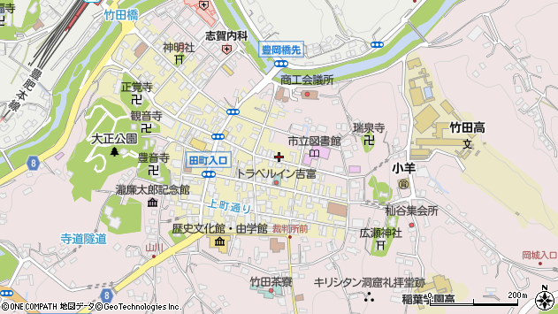 大分県竹田市竹田町205周辺の地図